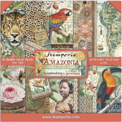 Набор бумаги для скрапбукинга Stamperia AMAZONIA 30х30см