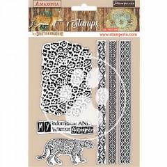 Набор резиновых штампов Stamperia AMAZONIA TRIBALS