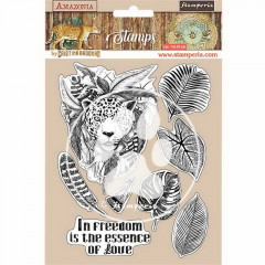 Набор резиновых штампов Stamperia AMAZONIA JAGUAR