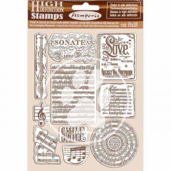 Набор резиновых штампов Stamperia PASSION MUSIC