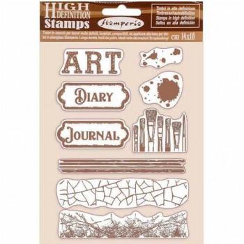 Набор резиновых штампов Stamperia ART