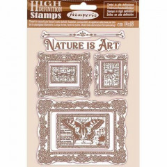 Набор резиновых штампов Stamperia NATURE IS ART FRAMES
