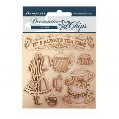 Набор декоративного чипборда Stamperia ALICE TEA TIME 14х14см