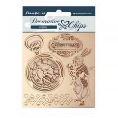 Набор декоративного чипборда Stamperia ALICE IN WONDERLAND 14х14см
