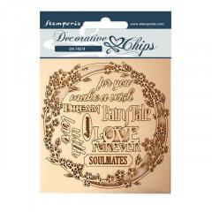 Набор декоративного чипборда Stamperia SLEEPING BEAUTY GARLAND LOVE 14х14см