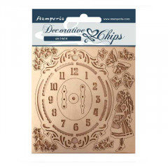 Набор декоративного чипборда Stamperia ALICE CLOCK 14х14см