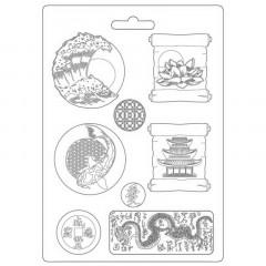 Форма для моделирования Stamperia SOFT MOULD A4 SIR VAGABOND IN JAPAN PLATES