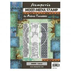 Набор резиновых штампов для микс медиа Stamperia SIR VAGABOND IN JAPAN BORDERS