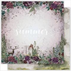 Лист бумаги для скрапбукинга Summer Studio FOREST BEAUTY коллекция Wild Forest 30х30см