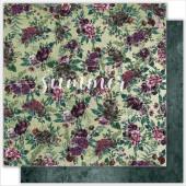 Лист бумаги для скрапбукинга Summer Studio WILD FLOWERS коллекция Wild Forest 30х30см