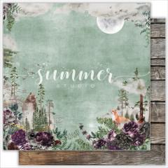 Лист бумаги для скрапбукинга Summer Studio WILD FOREST коллекция Wild Forest 30х30см