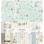 Набор бумаги для скрапбукинга Summer Studio LITTLE SHERIFF 30х30см
