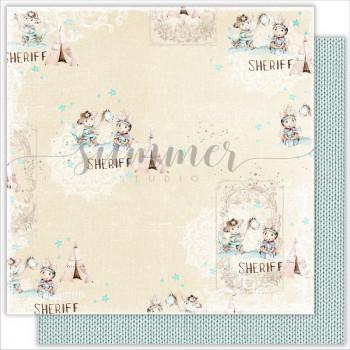 Лист бумаги для скрапбукинга Summer Studio FRIENDSHIP коллекция Little Sheriff 30х30см