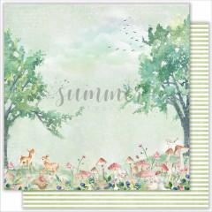 Лист бумаги для скрапбукинга Summer Studio FOREST коллекция Forest Story 30х30см