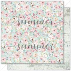 Лист бумаги для скрапбукинга Summer Studio GENTLE GARDEN коллекция Mother's tenderness 30х30см