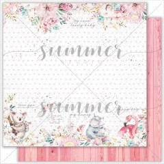 Лист бумаги для скрапбукинга Summer Studio FAMILY TIES коллекция Mother's tenderness 30х30см