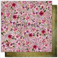 Лист бумаги для скрапбукинга Summer Studio BERRY DREAMS коллекция Marsala 30х30см