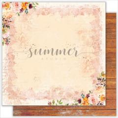 Лист бумаги для скрапбукинга Summer Studio AUTUMN коллекция Warm Autumn 30х30см
