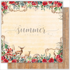 Лист бумаги для скрапбукинга Summer Studio CHRISTMAS WISHES коллекция The Holiday Spirit 30х30см