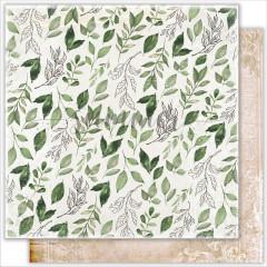 Лист бумаги для скрапбукинга Summer Studio FALLEN LEAVES коллекция Antique Garden 30х30см