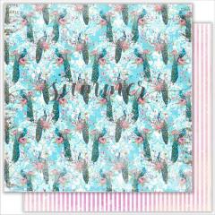 Лист бумаги для скрапбукинга Summer Studio BIRDSONG коллекция Bird of Paradise 30х30см