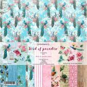 Набор бумаги для скрапбукинга Summer Studio BIRD OF PARADISE 30х30см