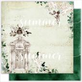 Лист бумаги для скрапбукинга Summer Studio THE DOOR TO THE GARDEN коллекция Renaissance 30х30см