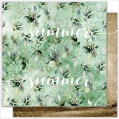 Лист бумаги для скрапбукинга Summer Studio CITY GARDEN коллекция Renaissance 30х30см