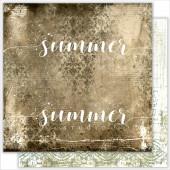Лист бумаги для скрапбукинга Summer Studio LANDSCAPE коллекция Renaissance 30х30см