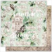 Лист бумаги для скрапбукинга Summer Studio ARCHITECTURE коллекция Renaissance 30х30см