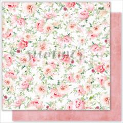 Лист бумаги для скрапбукинга Summer Studio FLOWERS MORNING коллекция Vintage Wedding 30х30см