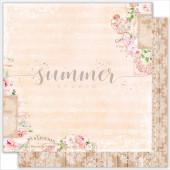 Лист бумаги для скрапбукинга Summer Studio TENDER MOMENTS коллекция Vintage Wedding 30х30см