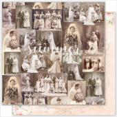 Лист бумаги для скрапбукинга Summer Studio VINTAGE WEDDING коллекция Vintage Wedding 30х30см