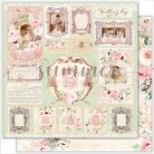 Лист бумаги для скрапбукинга Summer Studio WEDDING CARDS коллекция Vintage Wedding 30х30см