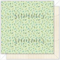 Лист бумаги для скрапбукинга Summer Studio GREEN DREAM коллекция Sky Swallows 30х30см