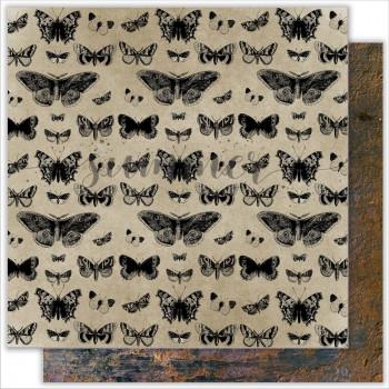 Лист бумаги для скрапбукинга Summer Studio BUTTERFLY коллекция Dreamland 30х30см