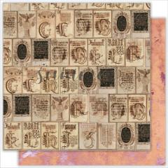 Лист бумаги для скрапбукинга Summer Studio VINTAGE AGE коллекция Dreamland 30х30см