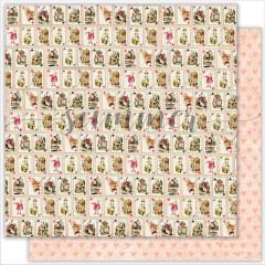 Лист бумаги для скрапбукинга Summer Studio ALICE'S CARDS коллекция Alice in Wonderland 30х30см