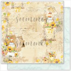 Лист бумаги для скрапбукинга Summer Studio AUTUMN LETTERS коллекция Autumn Stories 30х30см