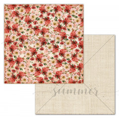 Лист бумаги для скрапбукинга Summer Studio FLOWERBED коллекция Farmhouse 30х30см