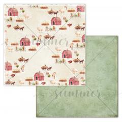 Лист бумаги для скрапбукинга Summer Studio MY FARM коллекция Farmhouse 30х30см