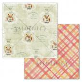 Лист бумаги для скрапбукинга Summer Studio COZY HOME коллекция Farmhouse 30х30см