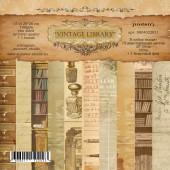 Набор фоновой бумаги для скрапбукинга Summer Studio VINTAGE LIBRARY 20х20см