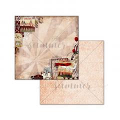 Лист бумаги для скрапбукинга Summer Studio CELEBRATE EVERYTHING коллекция Circus 30х30см