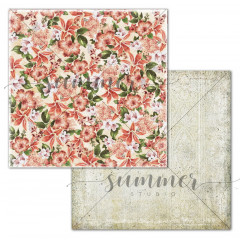 Лист бумаги для скрапбукинга Summer Studio CORAL LILIES коллекция Turn Back Time 30х30см