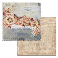 Лист бумаги для скрапбукинга Summer Studio BREATH коллекция Autumn Vibes 30х30см