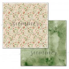 Лист бумаги для скрапбукинга Summer Studio BERRIES AND LEAVES коллекция Spirit of Nature 30х30см