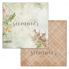 Лист бумаги для скрапбукинга Summer Studio ADVENTURE коллекция Spirit of Nature 30х30см