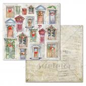 Лист бумаги для скрапбукинга Summer Studio DOORS коллекция Vintage Winter 30х30см