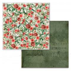 Лист бумаги для скрапбукинга Summer Studio COZY FLOWERS коллекция Vintage Winter 30х30см